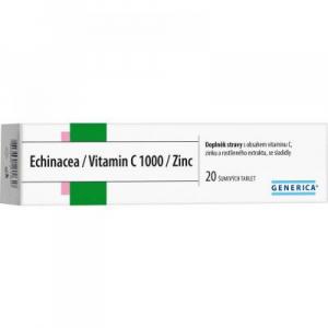 GENERICA Echinacea + Vitamin C 1000 + Zinek 20 šumivých tablet