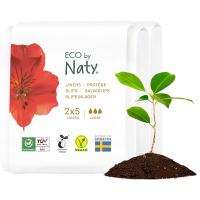 ECO BY NATY Dámské slipové vložky Super - cestovní balení 2x 5 ks