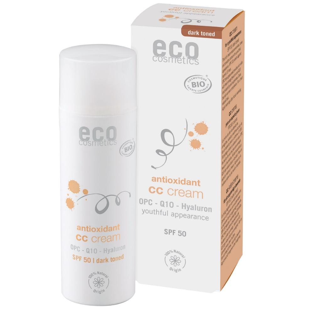 ECO COSMETICS CC krém SPF 30 Dark 50 ml BIO