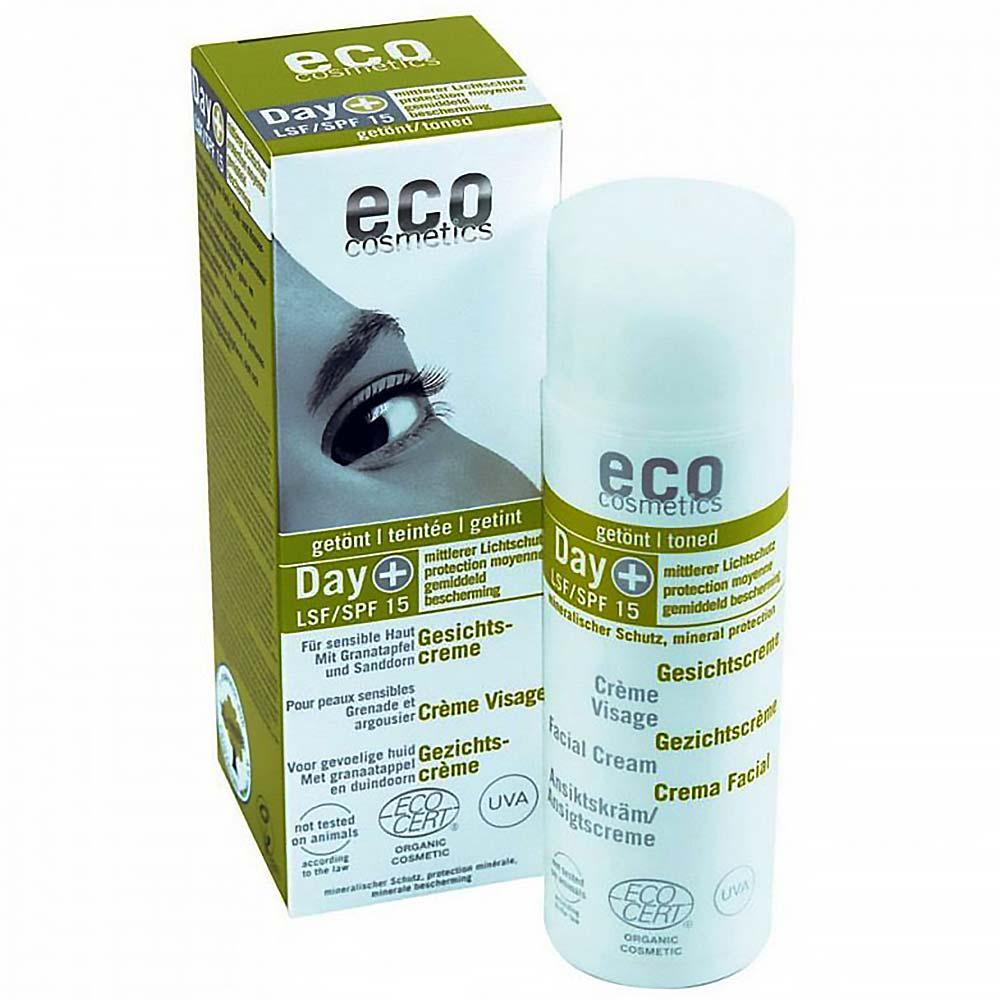ECO COSMETICS Denní tónovací a opalovací krém SPF15 BIO 50 ml