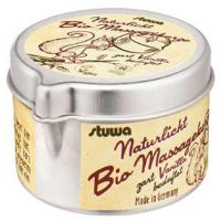 STUWA Masážní svíčka v plechové dóze s nálevkou BIO přírodní vanilka 50 ml