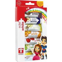 EDEL+WHITE Ovocné zubní pasty pro děti 7x 9,3 ml