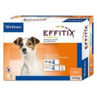 VIRBAC Effitix Spot-on pro psy S (4-10 kg) 4 pipety