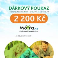Poukaz na konzultaci s psychologem Mojra.cz 1x60 + 2x90 min