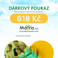 Poukaz na konzultaci s psychologem Mojra.cz 1x60 min