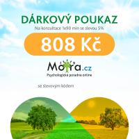 Poukaz na konzultaci s psychologem Mojra.cz 1x90 min