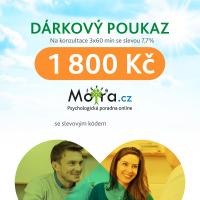 Poukaz na konzultaci s psychologem Mojra.cz 3x60 min