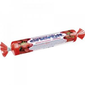 ENERGIT Hroznový cukr multivitamin jahoda 17 tablet