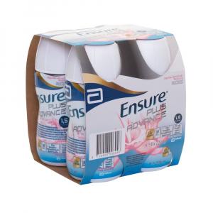 ENSURE PLUS Advance jahodová příchuť 4 x 220 ml