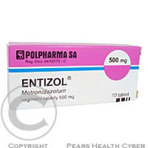 ENTIZOL  10X500MG Poševní tobolky