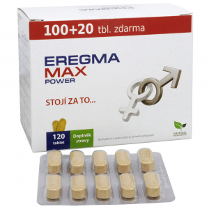 EREGMA Max Power 100 + 20 tablet ZDARMA