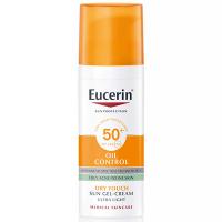 EUCERIN Sun Oil Control Ochranný krémový gel na opalování na obličej SPF 50+ 50 ml