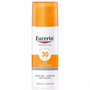 EUCERIN Sun Oil Control Ochranný krémový gel na opalování na obličej SPF 30 50 ml