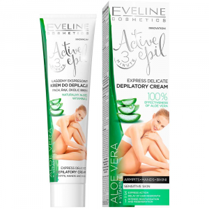 EVELINE Active Epil Jemný depilační krém s Aloe Vera 3v1 125 ml