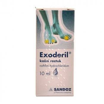 EXODERIL Roztok k zevnímu užití 100 mg 10 ml