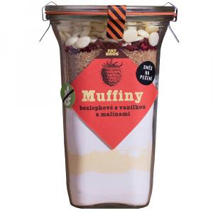 FAT BROTHERS Muffiny s malinami, vanilkou a bílou čokoládou v dóze 445 g