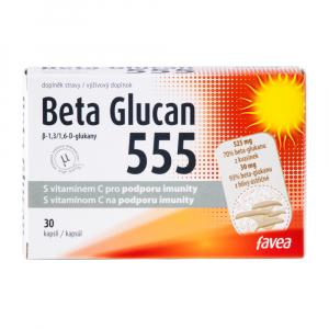 FAVEA Beta Glucan 555 s vitamínem C 30 kapslí