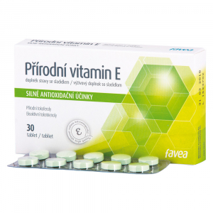 FAVEA Přírodní vitamín E 30 tablet