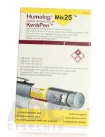 HUMALOG MIX 25 KWIKPEN 100 IU/ML  5X3ML/300UT Injekční suspenze