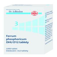 DR. SCHÜSSLERA Ferrum phosphoricum DHU D12 No.3 1000 tablet