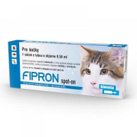 FIPRON 50 mg spot-on roztok k nakapání na kůži pro kočky 0,5 ml
