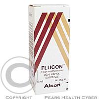 FLUCON  1X5ML0.1% Oční kapky, suspenze