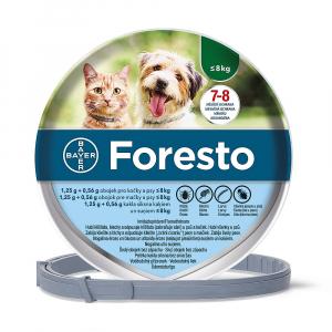 FORESTO Obojek pro kočky a psy do 8 kg délka 38 cm