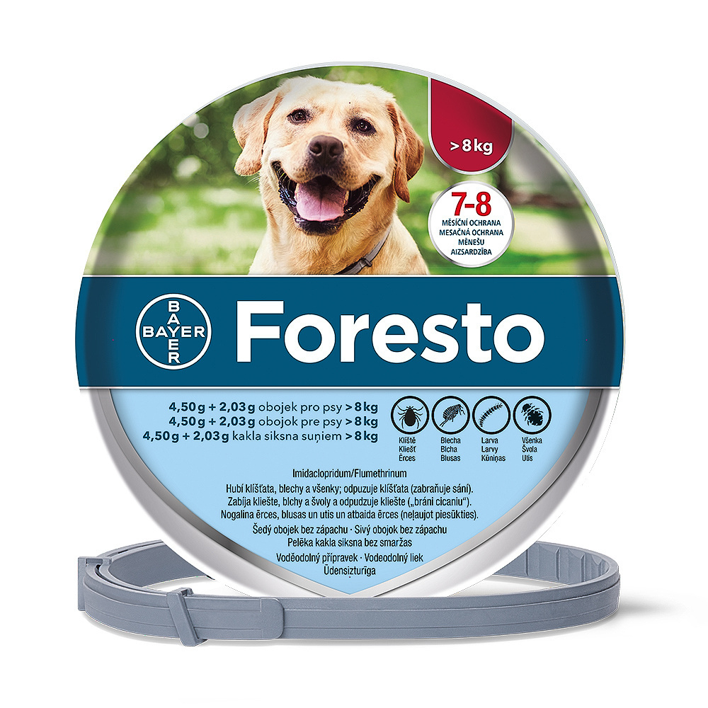 Foresto (4.50 g +2.03 g) obojek psy nad 8 kg délka 70 cm