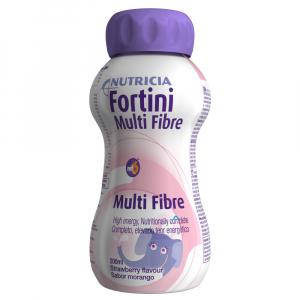 FORTINI Compact multi fibre s příchutí jahodovou 4 x125ml