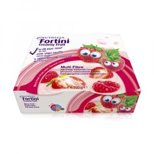 FORTINI Creamy fruit multi fibre červené ovoce 4 x 100 g