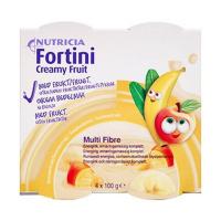 FORTINI Creamy fruit multi fibre letní ovoce 4 x 100g