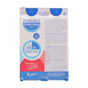 FRESUBIN Protein energy Lesní jahoda roztok 4 x 200 ml