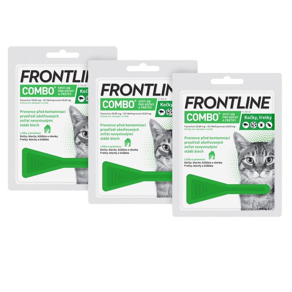 FRONTLINE Combo Spot-on pro kočky 1x0,5 ml 3ks