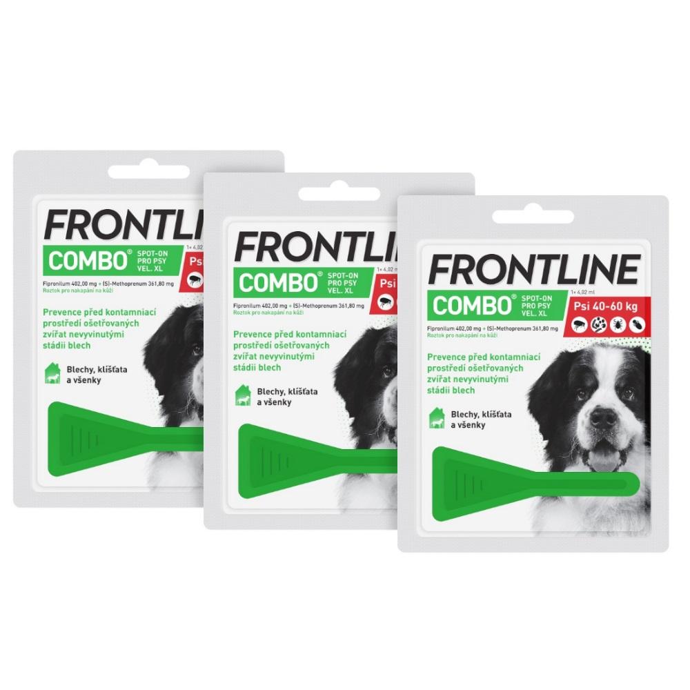 FRONTLINE Combo Spot-on pro psy XL (40-60 kg) 1x4,02 ml 3 ks