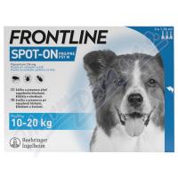 FRONTLINE SPOT ON pro psy M (10-20kg) - 3x1,34ml