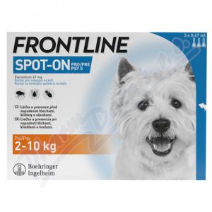 FRONTLINE SPOT ON pro psy S (2-10kg) - 3x0,67ml
