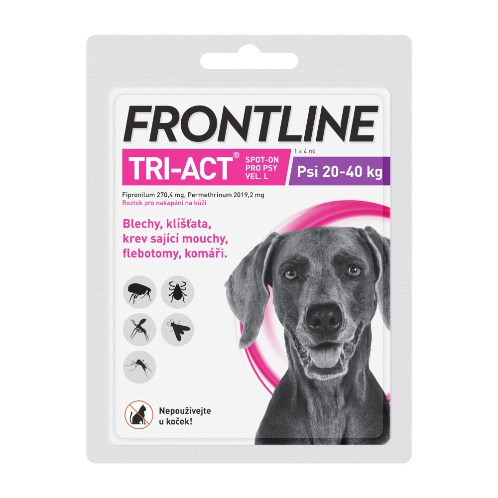 FRONTLINE Tri-Act Spot-on pro psy L (20-40 kg) 1x 4 ml