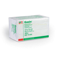 Gáza hydrofilní skl. kompr. sterilní Gazin 7.5x7.5 cm 100 ks