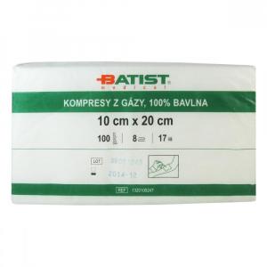 BATIST Gáza kompresní nesterilní 10 x 20 cm 100 kusů