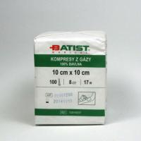 BATIST Kompresy z gázy 10x10 cm 100 kusů
