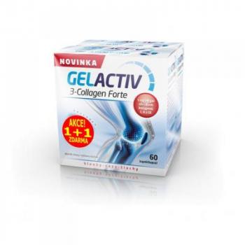 SALUTEM GelActiv 3-Collagen Forte 60+60 kapslí ZDARMA