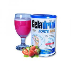 GELADRINK Forte Hyal práškový nápoj s příchutí jahody 420 g