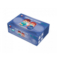 GENERAL PUBLIC Dětská 3 vrstvá ústní rouška modrá 25 kusů