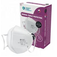 GENERAL PUBLIC PROTECTION FFP2 NR 10 kusů Jednorázový ochranný respirátor