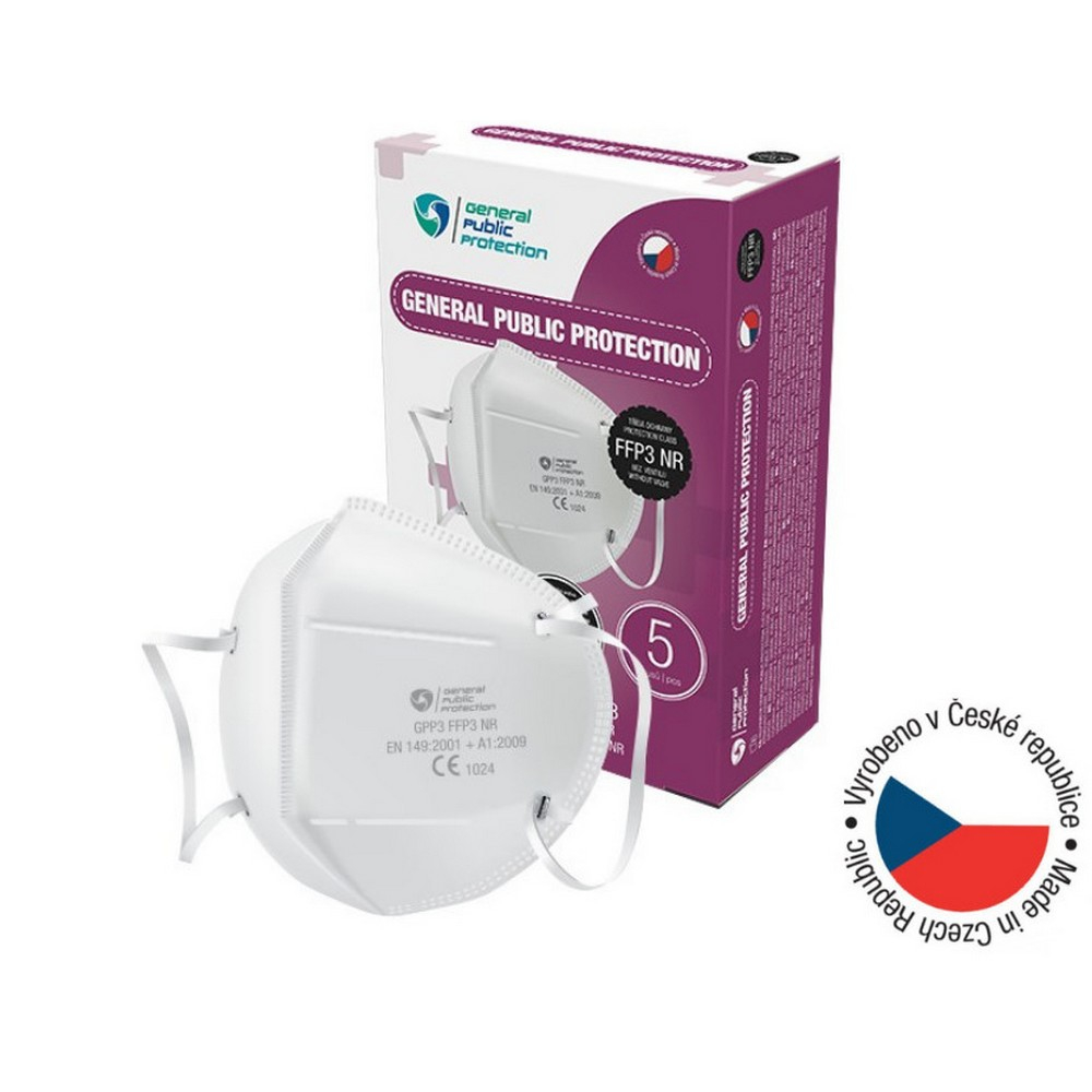 GENERAL PUBLIC PROTECTION FFP3 NR Jednorázový ochranný respirátor 5 kusů