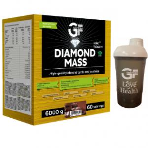 GF NUTRITION Diamond mass čokoláda 6 kg + ŠEJKR 600 ml zdarma