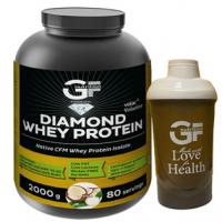 GF NUTRITION Diamond whey protein kokos 2000 g + ŠEJKR 600 ml zdarma