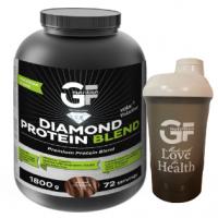 GF NUTRITION Diamond protein blend dvojitá čokoláda 1800 g + ŠEJKR 600 ml zdarma