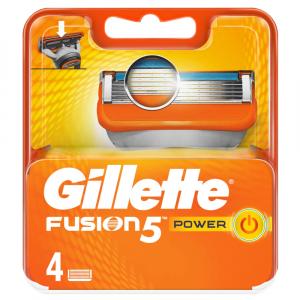 GILLETTE Fusion Power Náhradní hlavice pro muže 4 ks