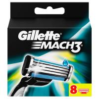 GILLETTE Mach3 Náhradní hlavice k Pánskému Holicímu Strojku 8 kusů